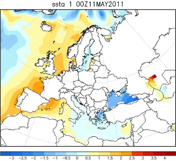 het Noordzeewater was in mei 2011 warmer dan normaal