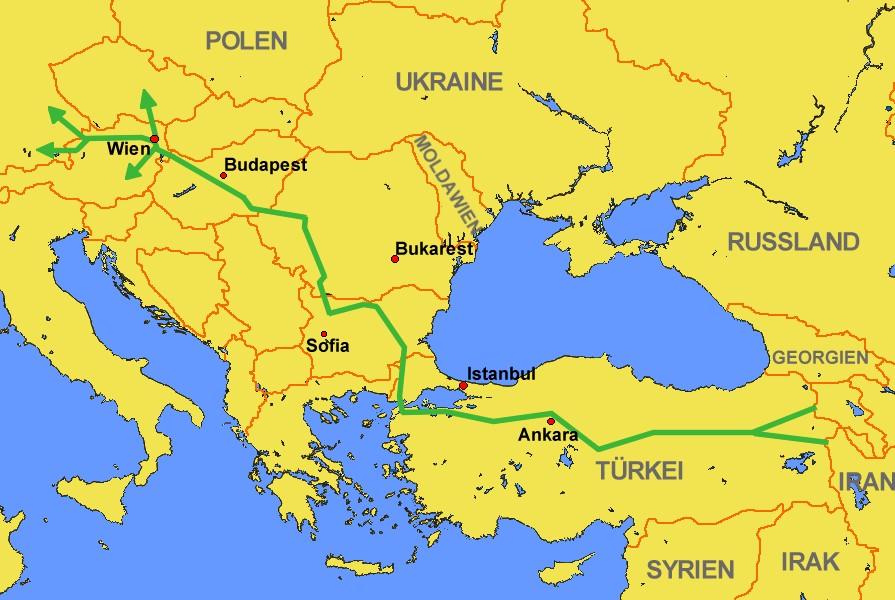 afstand syrië cyprus